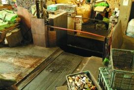 鉄屑処理 油圧プレス写真